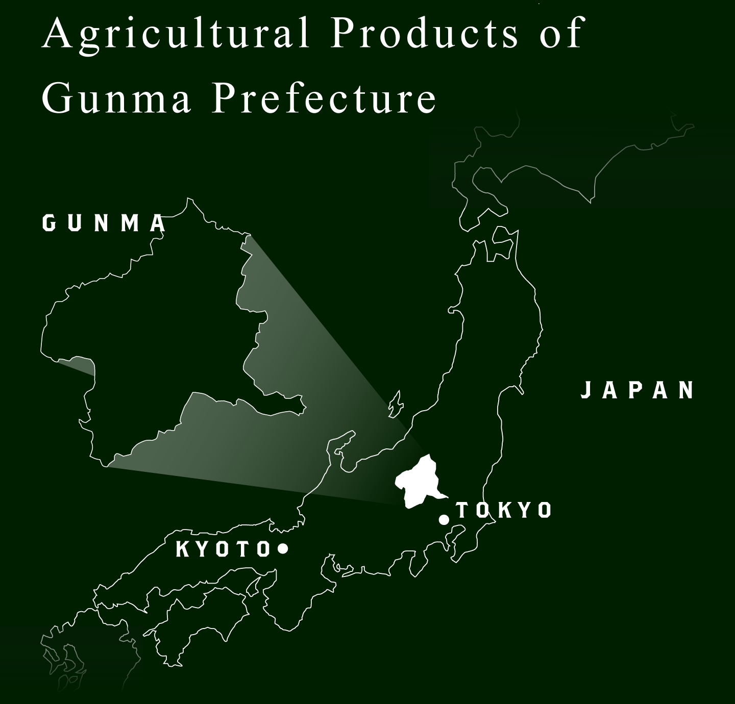 Agricultural Products of Gunma Prefecture